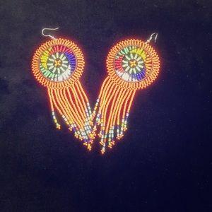 Handmade beaded earrings from South Africa